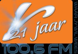 Radio Rosestad Logo 21 Jaar 100.6FM
